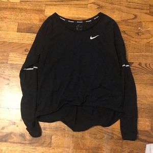 Black Nike Dri Fit long sleeve workout tee